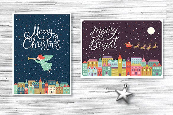 13 Colorful Christmas Card Template Download