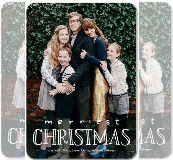 happy expression christmas card template download