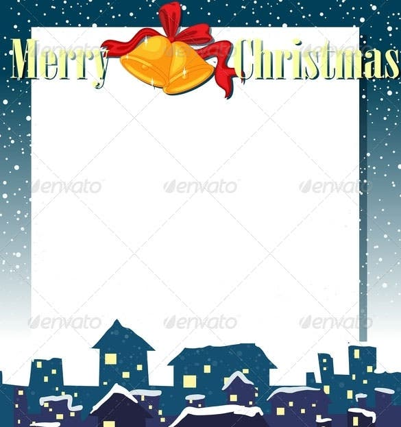 Empty Christmas Invitation Card Template EPS Format