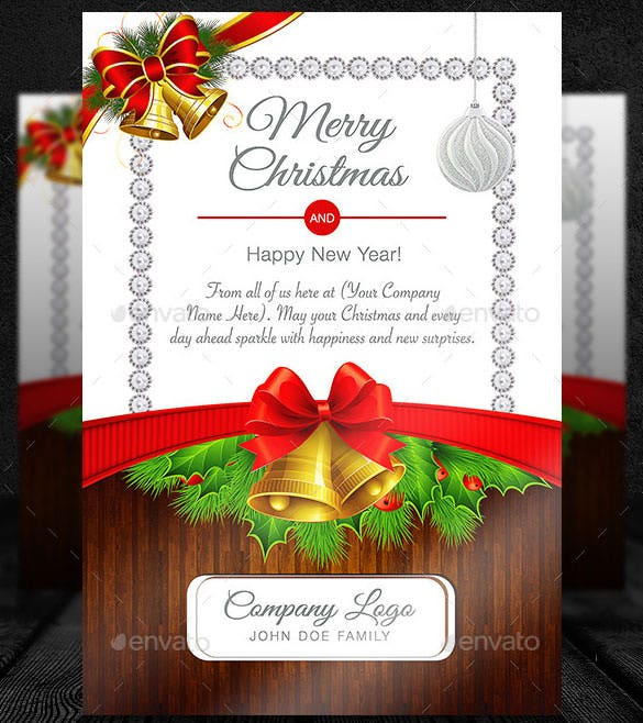 Editable Christmas Card Template For Invitation