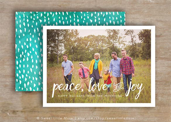 Photo Christmas Card Template Psd