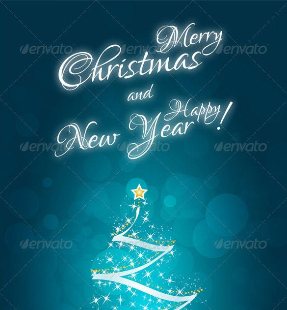 mery christmas new year card template