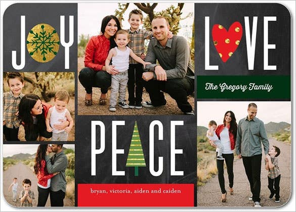 shining symbol photo christmas card template editable - Free Photo Christmas Card Templates
