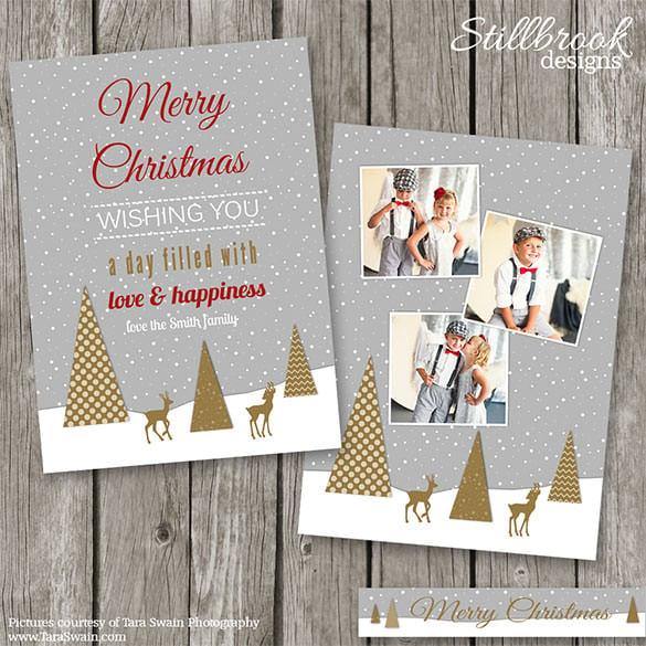 150 Christmas Card Templates Free PSD EPS Vector AI Word – Christmas Card Layout