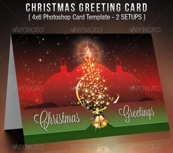 charity christmas card template psd design - Photoshop Christmas Card Templates