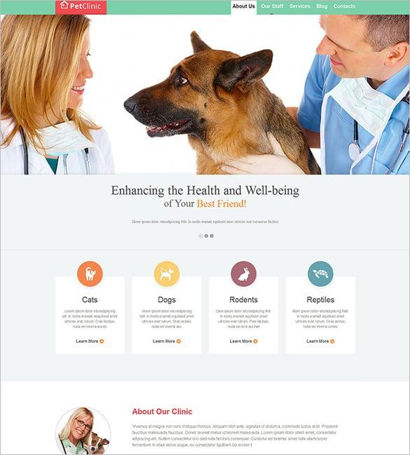 veterinary doctor responsive website template