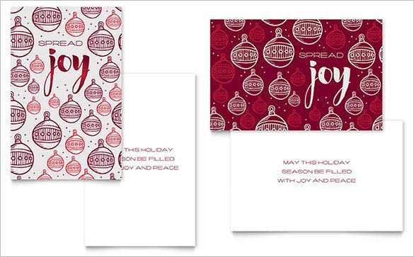 Christmas Joy Greeting Card Template Design  Christmas Card Templates For Word