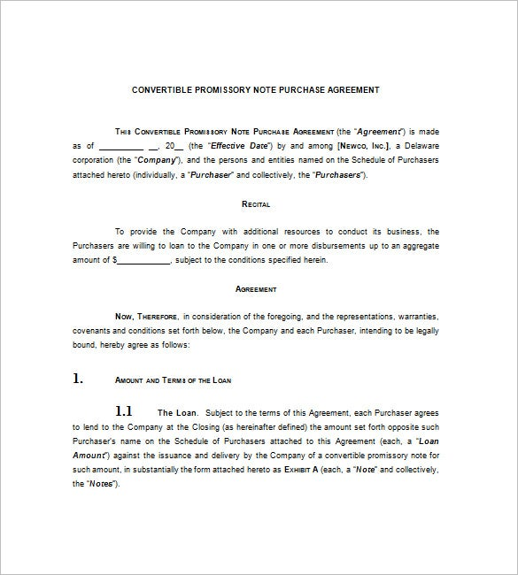 convertible promissory note purchase agreement1