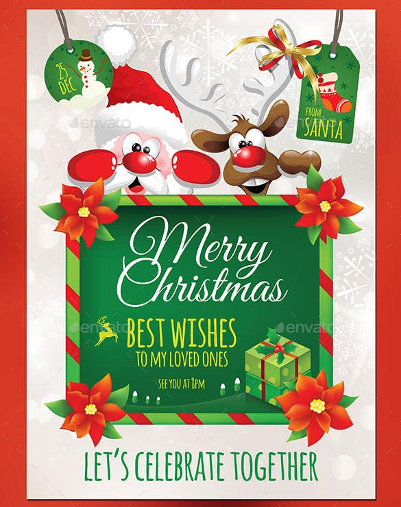 christmas invitation template  u2013 26  free psd  eps  vector