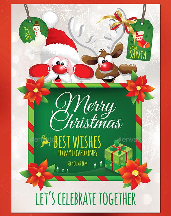 christmas invitation template  u2013 26  free psd  eps  vector