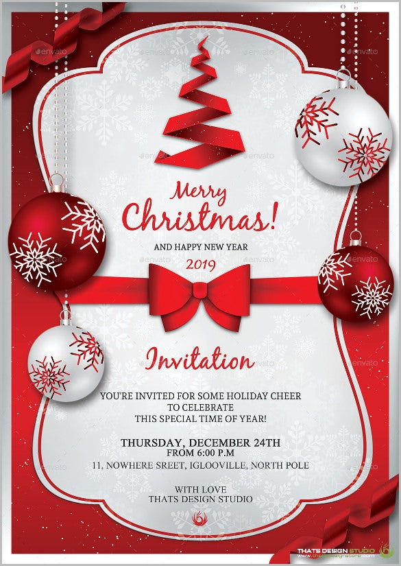 Christmas invitation template 26 free psd eps vector ai word format download free for Free holiday invite templates