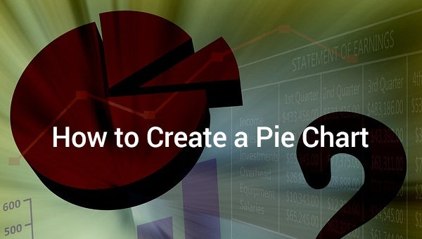 how to create a pie chart