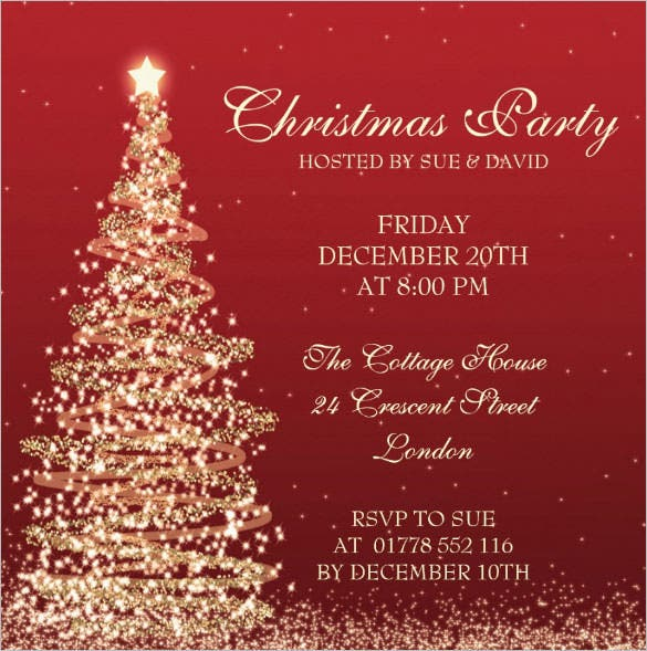 Christmas Invite Templates Free Downloading Christmas Invitations – Free Christmas Invitation Templates