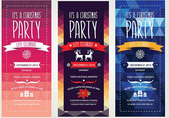 3 christmas invitation eps format download