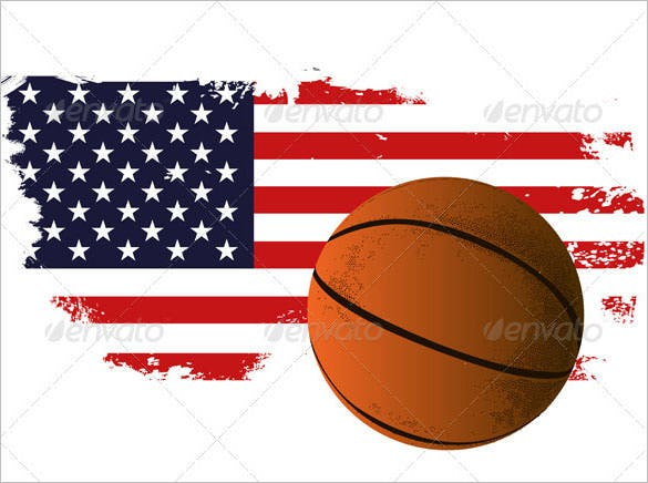 american basketball background editable eps format