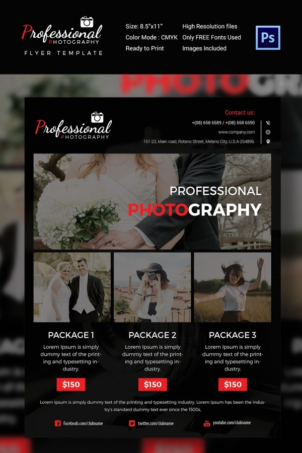 Agency Photography Flyer Template in PSD