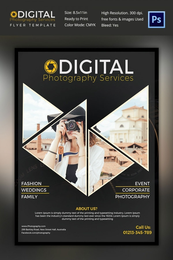 Alternative Flyer Design Template Perfect for Photographer Download