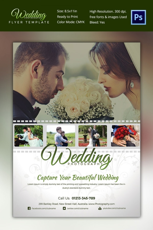 Stylish Wedding Photography Flyer