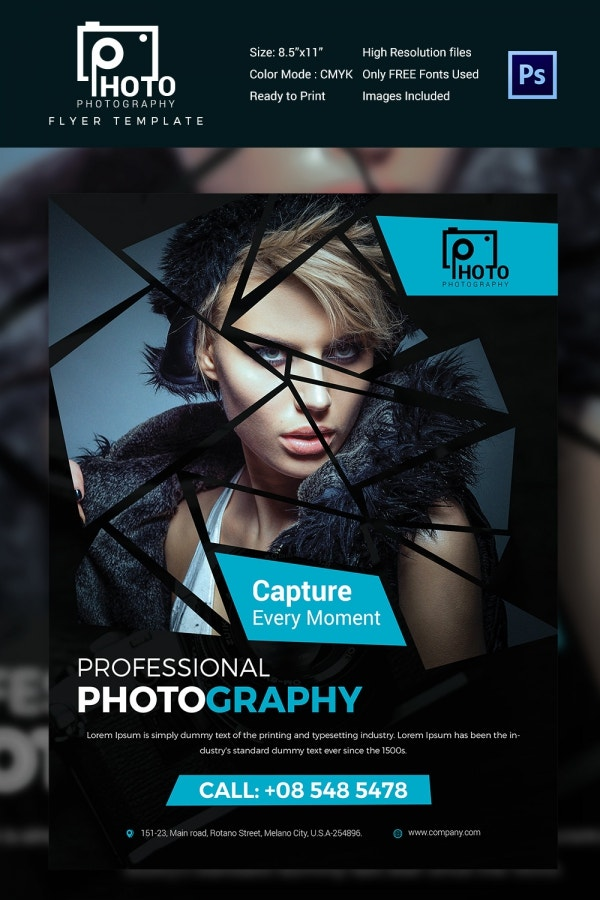 Triangle Multipurpose Photography Flyer Template