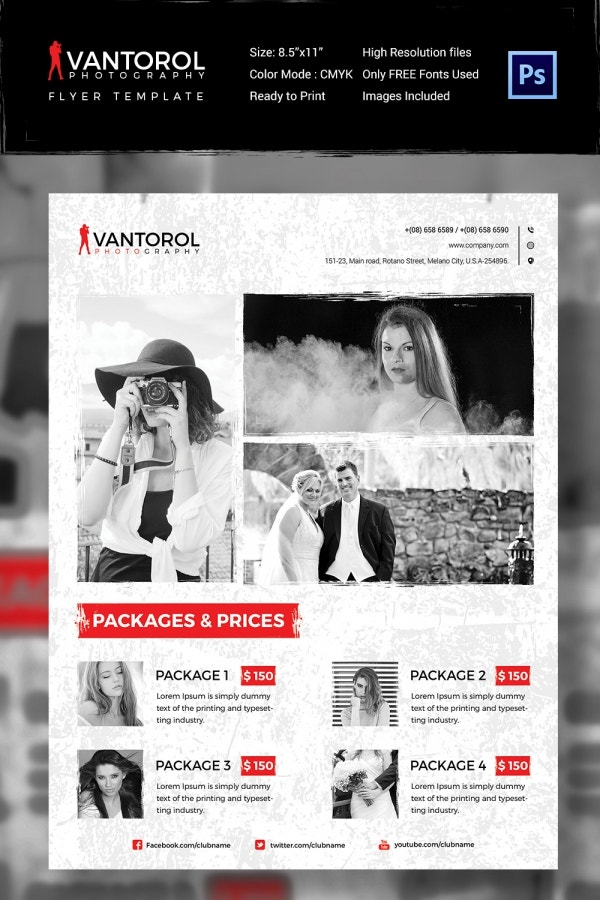 Business Photography Flyer Template PSD Format Download