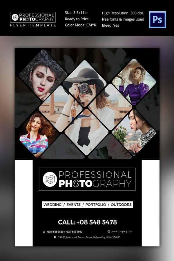 Professional Fassion Photographer Flyer Template