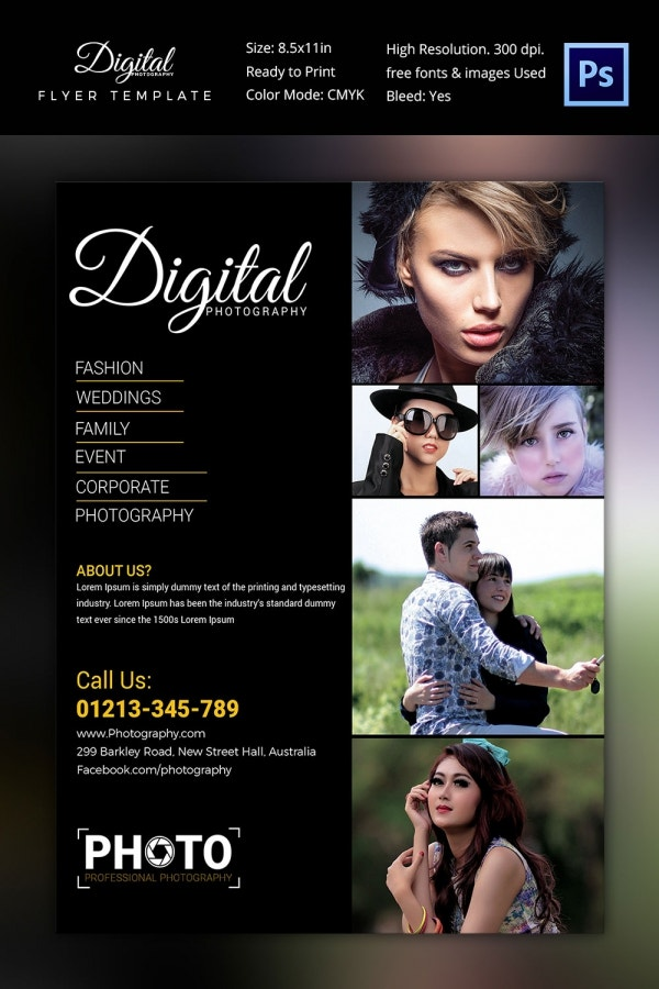 Digital Photography Flyer Template Download