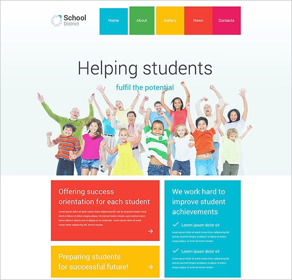 school district wordpress blog theme