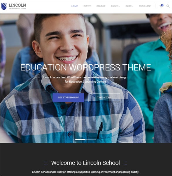education wordpress blog theme download