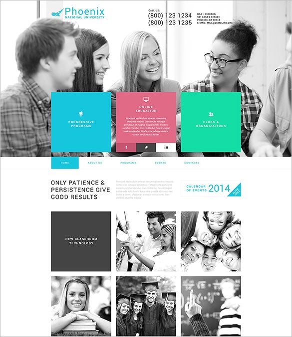 phoenix university education blog theme