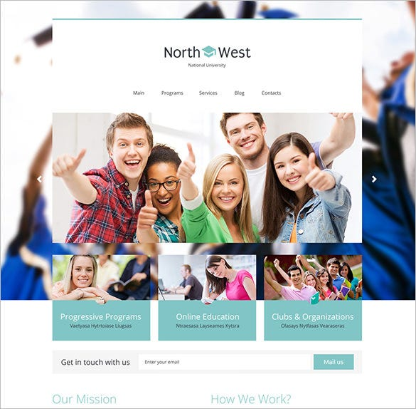 north west university education blog theme