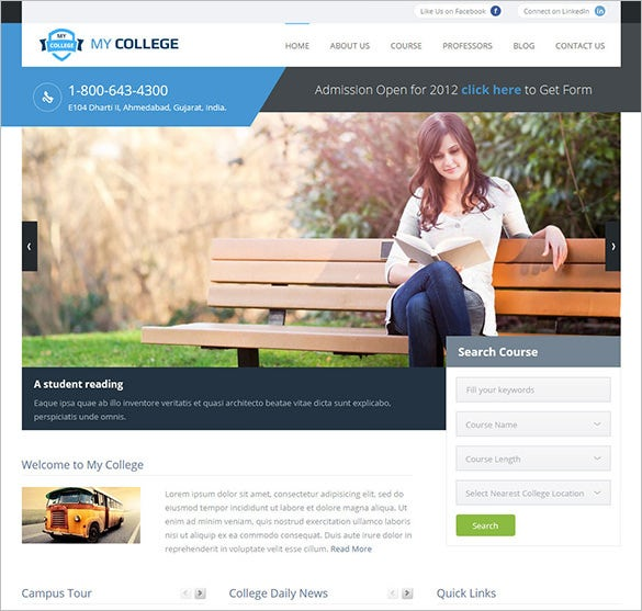premium education blog theme download