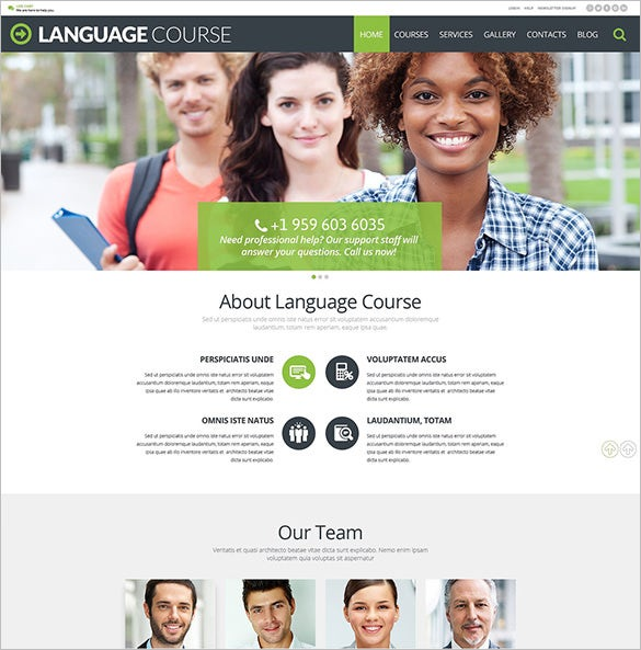 language course education blog theme