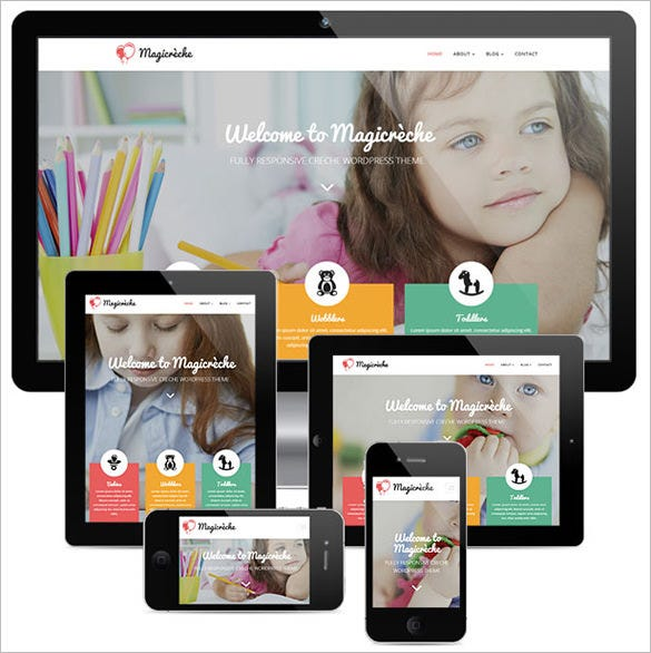 pre school education blog theme