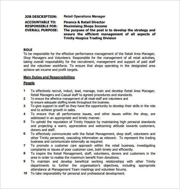 General Manager Job Description rockcuptk – Finance Director Job Description