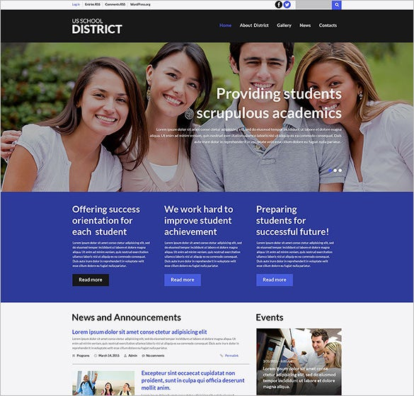 schooling education blog theme download