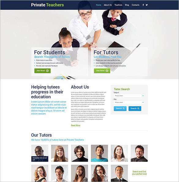 private teachers education blog theme