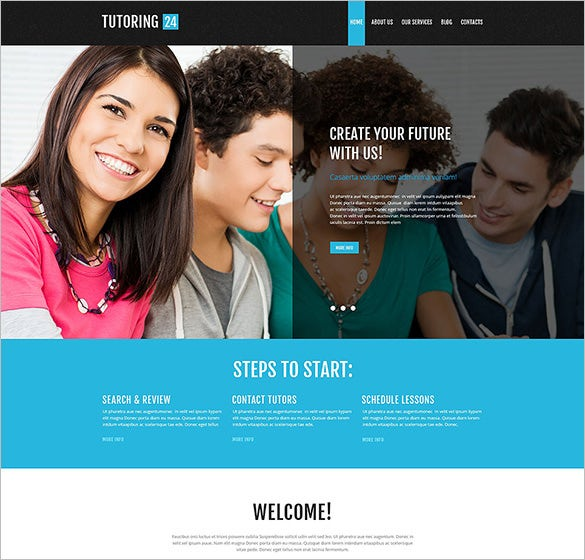 education online blog theme download