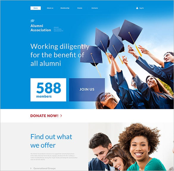 university responsive bootstrap template