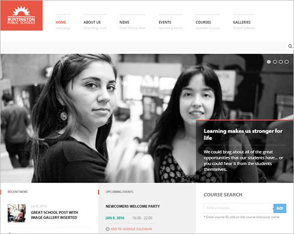 education bootstrap theme for school