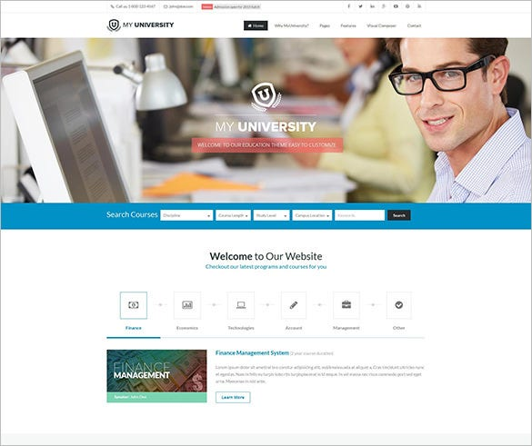 education bootstrap theme for college
