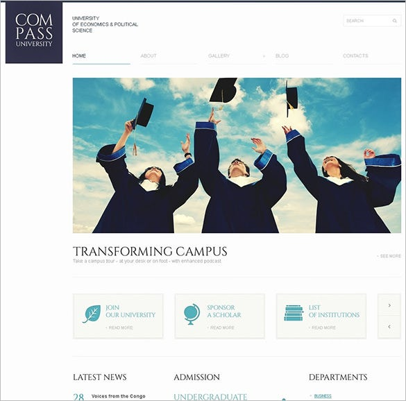 solid university education bootstrap theme