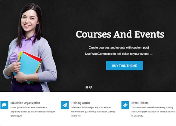 education event and course bootstrap theme