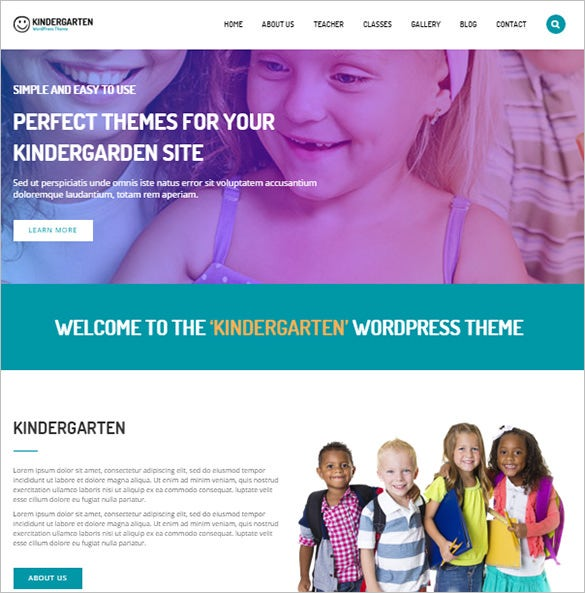 education bootstrap theme for kindergarten