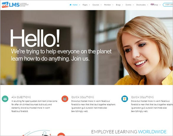 learning management bootstrap theme