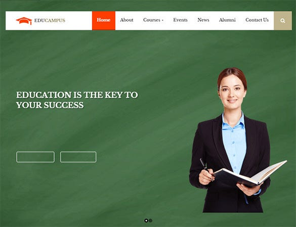 education university bootstrap theme