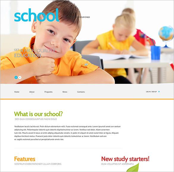 primary school responsive bootstrap theme