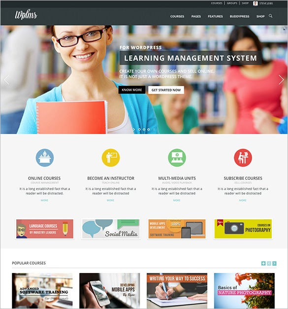 education management system bootstrap theme