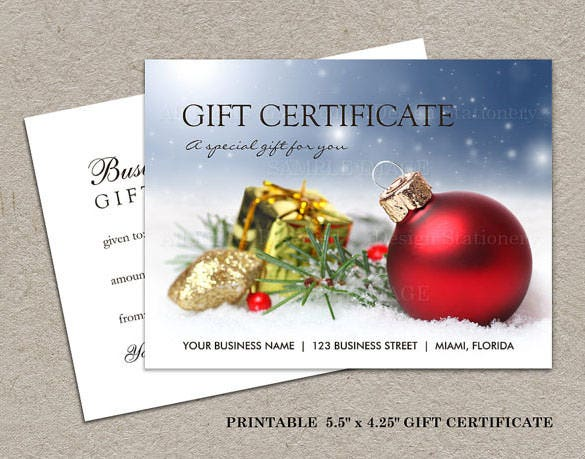 20 christmas gift certificate templates free sample for Homemade christmas gift certificates templates