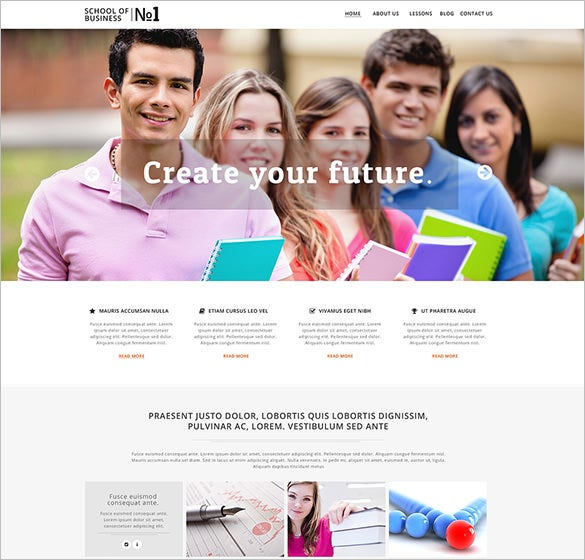 business school education bootstrap template