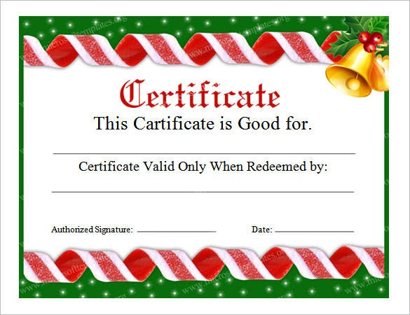 free christmas templates for word - 20 christmas gift certificate templates free sample